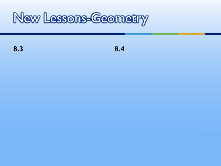 New Lessons-Geometry