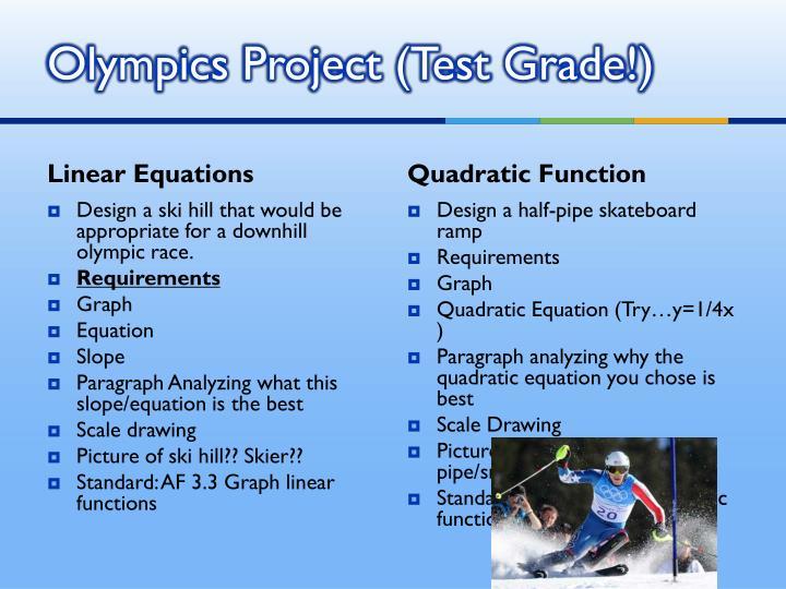 Olympics Project (Test Grade!)