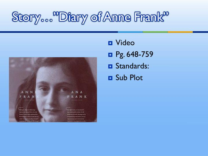 """Story…""""Diary of Anne Frank"""""""