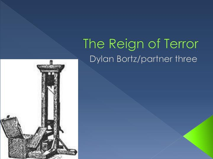 the reign of terror n.