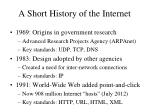 a short history of the internet