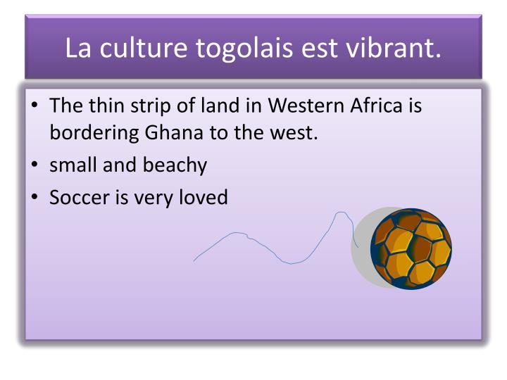 La culture togolais est vibrant.