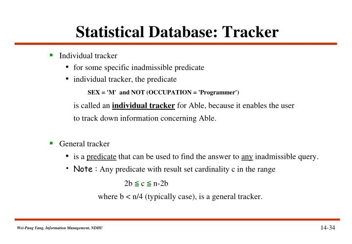 Statistical Database: Tracker