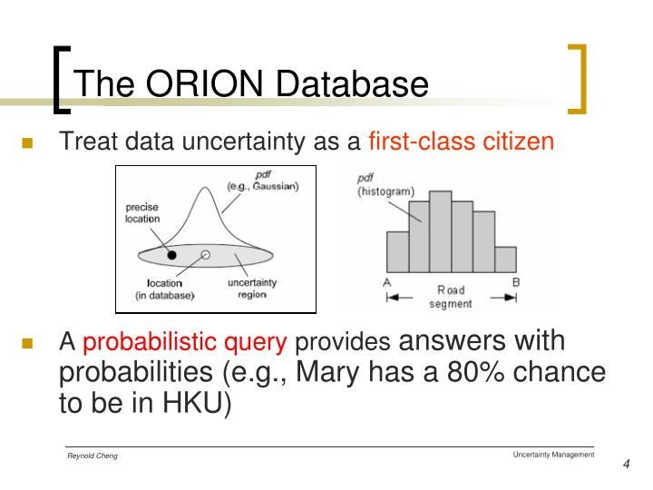 The ORION Database