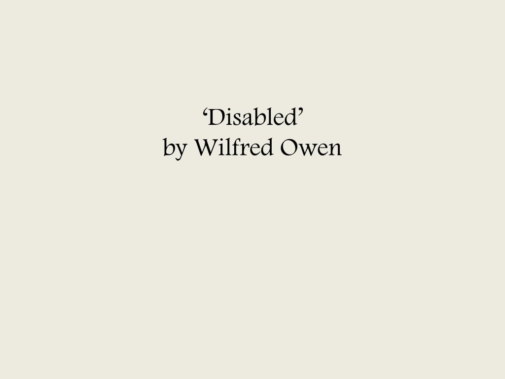 disabled wilfred owen summary