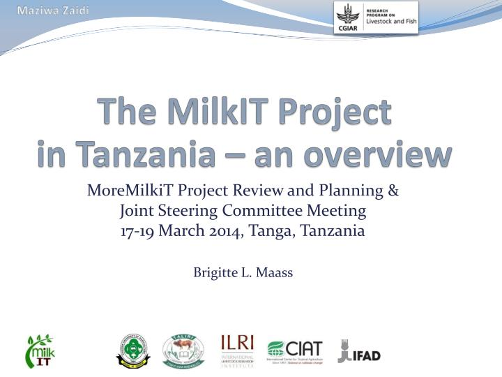 the milkit project in tanzania an overview n.