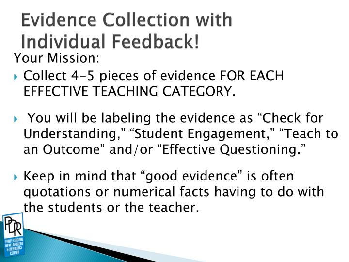 Evidence Collection with