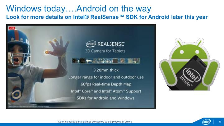 Windows today….Android on the way