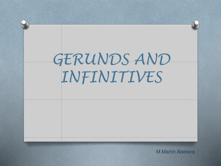gerunds and infinitives n.