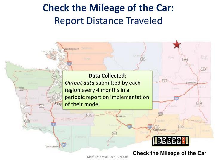 Check the Mileage of the