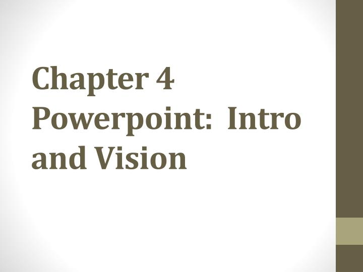 Chapter 4 powerpoint intro and vision