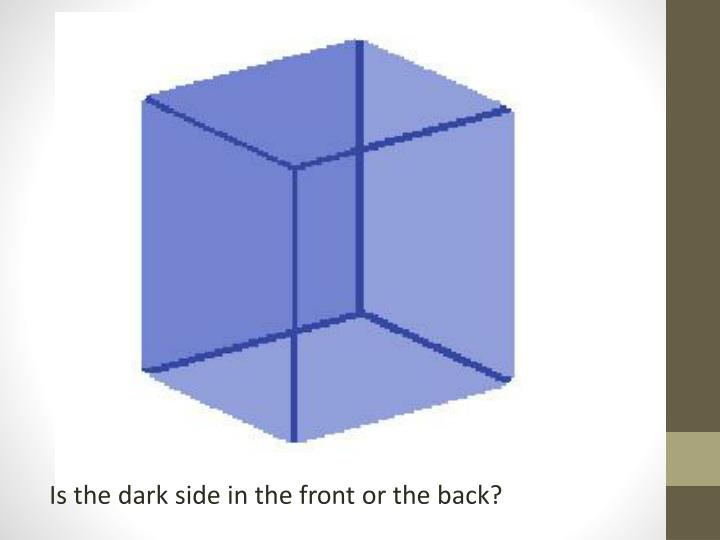 Is the dark side in the front or the back?
