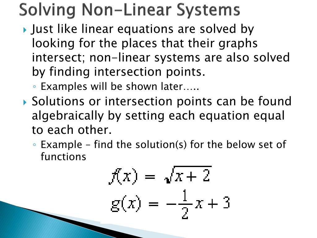 PPT - Solving Linear Systems PowerPoint Presentation - ID