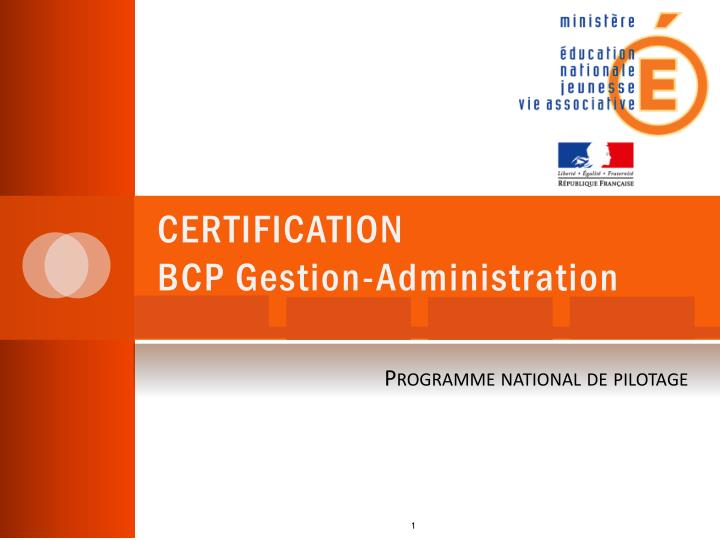 certification bcp gestion administration n.