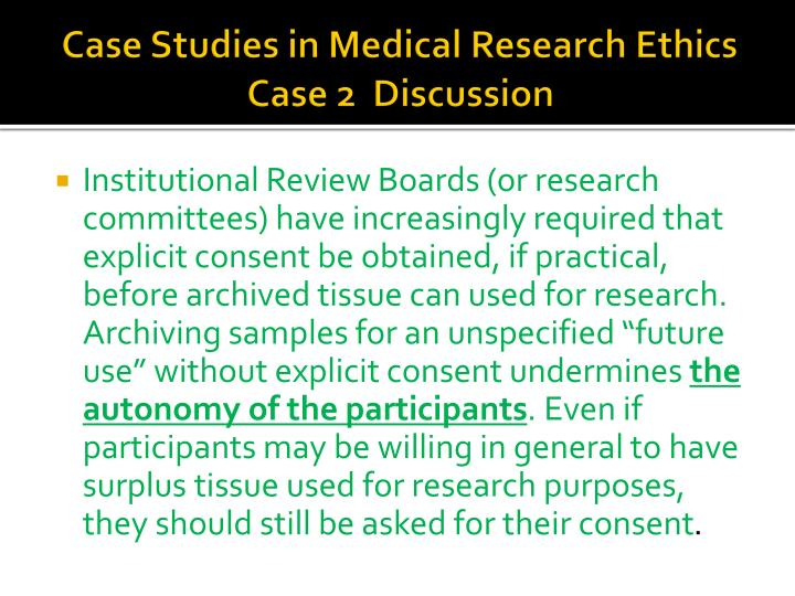 medical ethics case studies autonomy