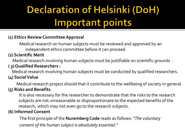 ethics of the nuremberg code essay Start studying research ethics and irb∴ learn vocabulary, terms, and more with flashcards, games the nuremberg code the helsinki declaration.