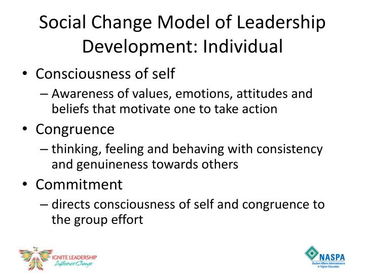 Social Change Model of Leadership Development: Individual