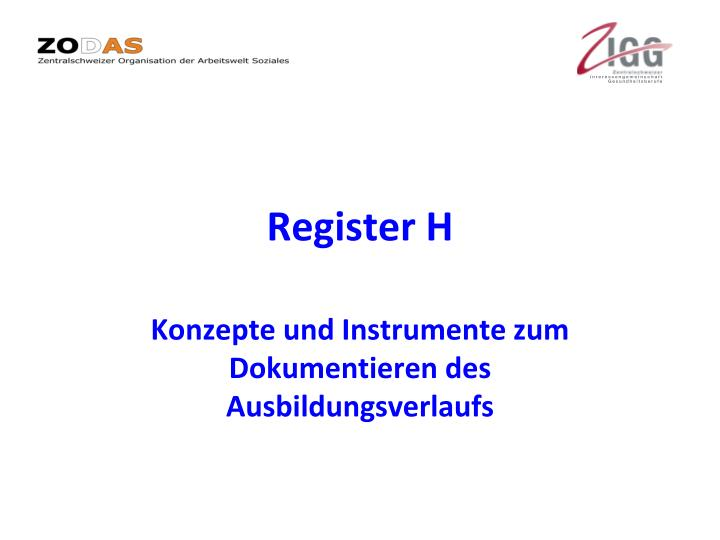 Register H