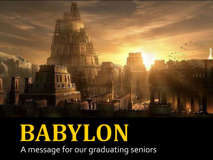 a message for our graduating seniors n.