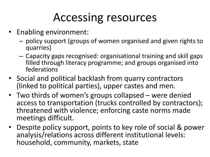accessing resources n.