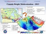 canada height modernization 2013