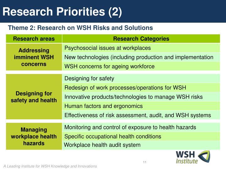Research Priorities (2)