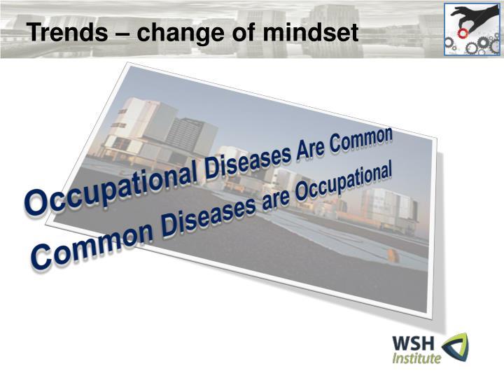 Trends – change of mindset