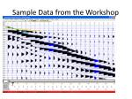 sample data from the workshop