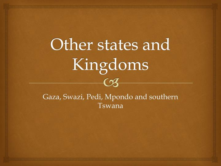 other states and kingdoms n.