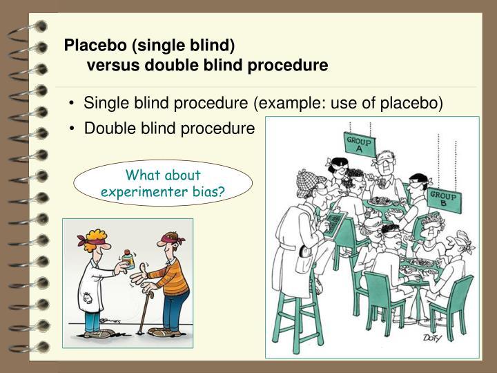 Placebo (single blind)