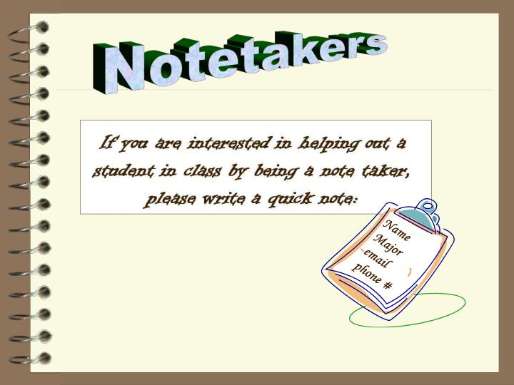 Notetakers