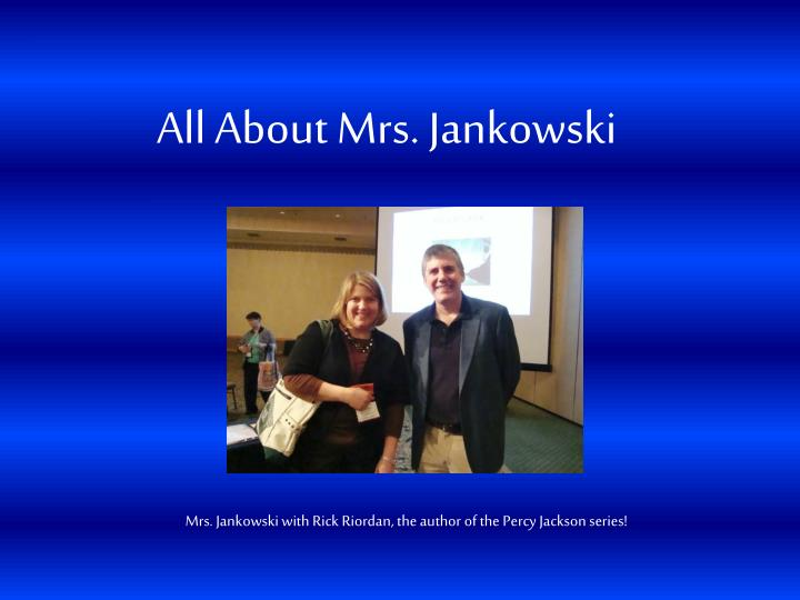 all about mrs jankowski n.