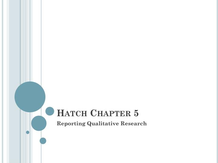 hatch chapter 5 n.