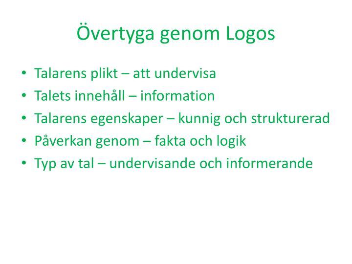 Övertyga genom Logos