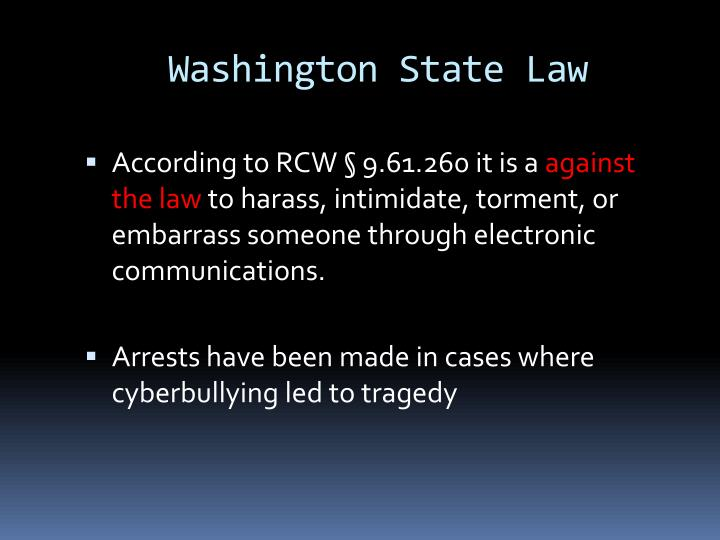 Washington State Law