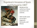 napoleon s invasion of spain and portugal in 1807