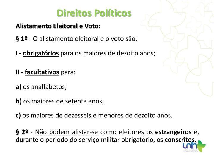 Alistamento Eleitoral e Voto: