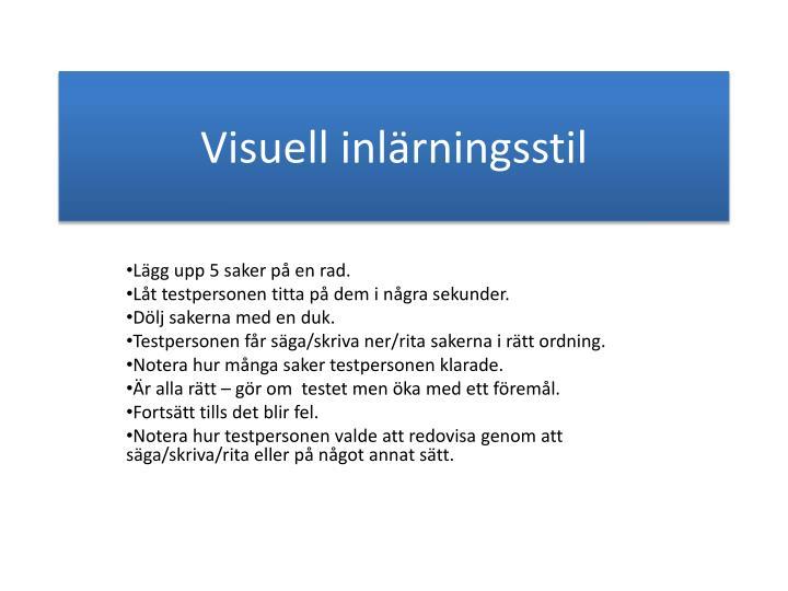 Visuell inlärningsstil