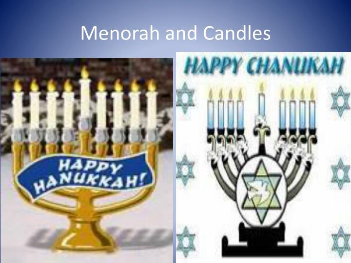 Menorah and Candles