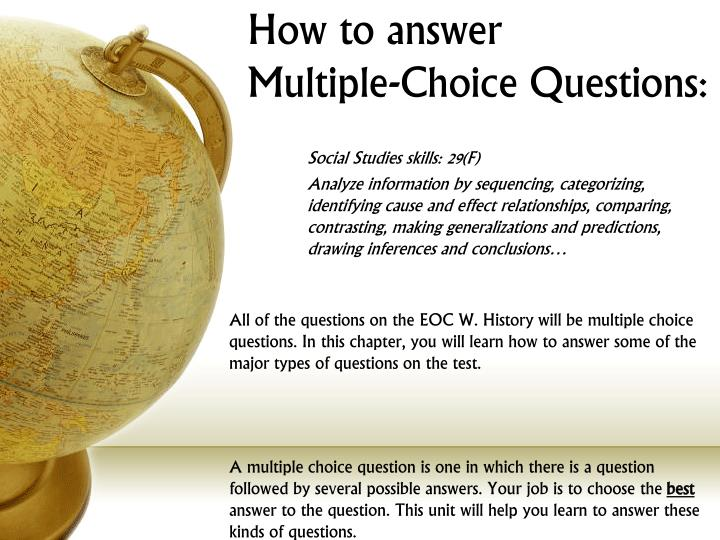 how to answer multiple choice questions n.