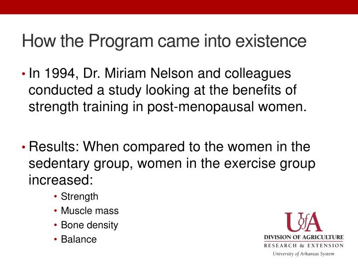 How the Program came into existence