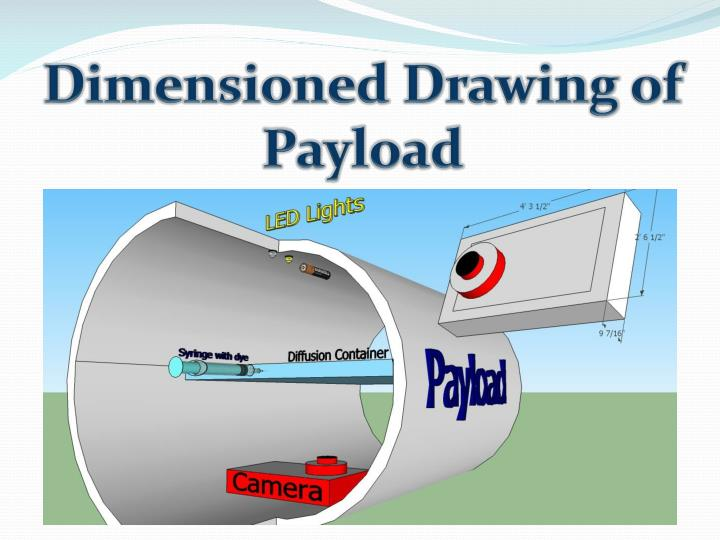 Dimensioned Drawing of Payload