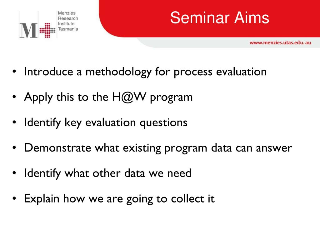 PPT - The why behind the what: A process evaluation of