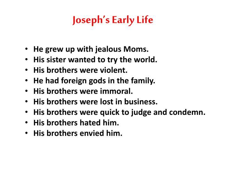 Joseph's Early Life