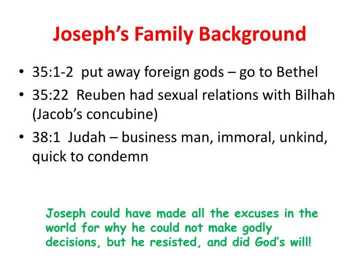 Joseph s family background1