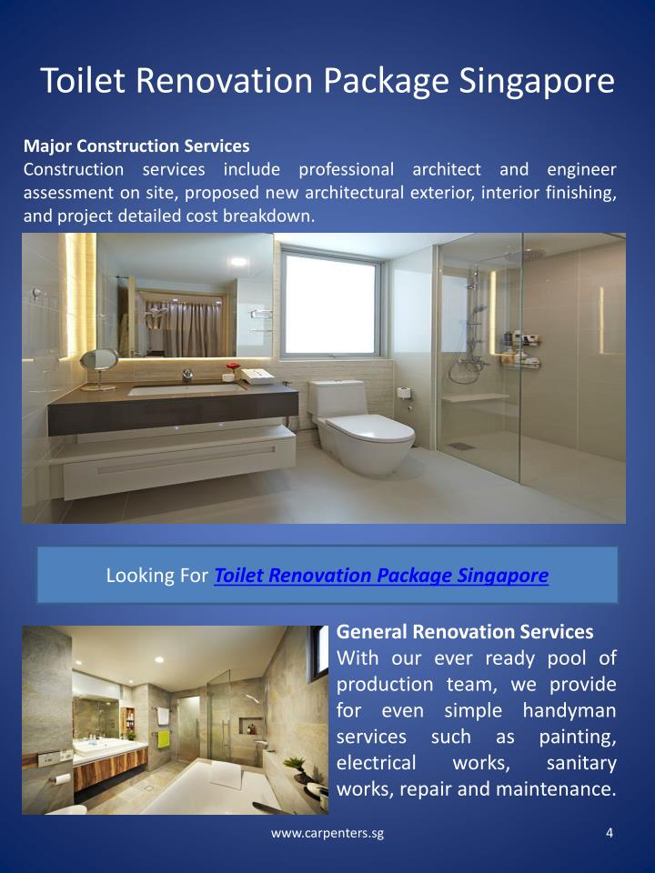 Toilet Renovation Package Singapore