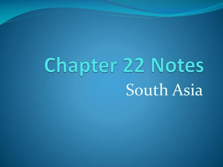 chapter 22 notes n.