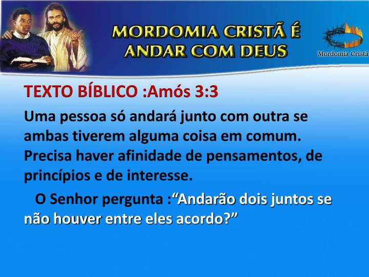 TEXTO BÍBLICO :