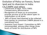 evolution of policy on forests forest land and its diversion in india ca campa and others