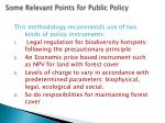 some relevant points for public policy